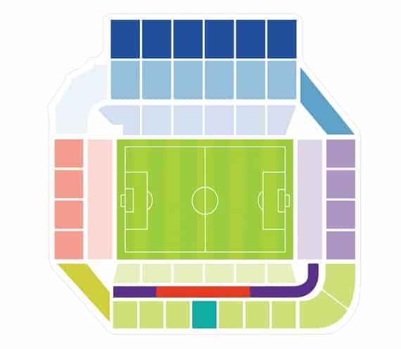 Plan Stade de la Mosson